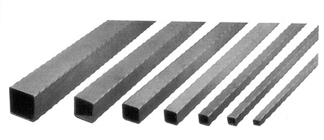 Barra ferro battuto tubo quadro 50x50 martellato 1 mt per for Ferro tubolare quadrato prezzo